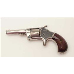 Whitneyville .30 caliber spur trigger  revolver, nickel finish, rosewood grips, in  almost mint cond