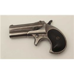 "Remington O/U derringer, .41RF caliber, 3""  barrels, checkered hard rubber grips, S/N  L94747, in ov"