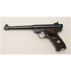 "Ruger MK I semi-automatic pistol, .22LR  caliber, 6.75"" barrel, blued finish,  checkered thumb rest"