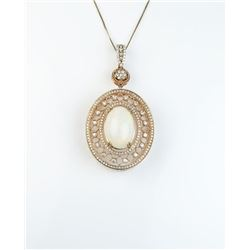 Sensational Fine Opal and Diamond pendant  weighing approx. 8.00-10.00 carats and micro  set with ov
