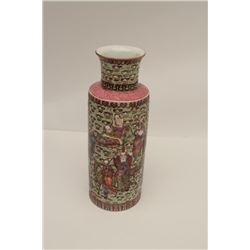 Royal Satsuma style Japanese porcelain vase.  Immortals and mythological scenes including  hairy man