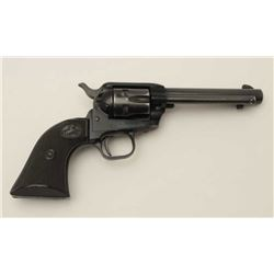 "Colt Frontier Scout Single Action revolver,  .22 Magnum caliber, 4.75"" barrel, black  finish, checke"