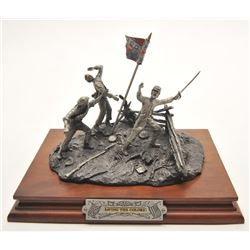 "Pewter sculpture by Fran Barnum and issued by  Chilmark Collectors Society entitled ""Saving  the Col"