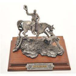 """Pewter sculpture by Fran Barnum and issued by  Chilmark Collectors Society entitled """"Lee to  the Rea"""