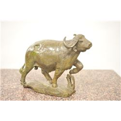 Carved hard stone (Verdite from Zimbabwe  similar to jade) statue by P.M. Zubute  considered the top