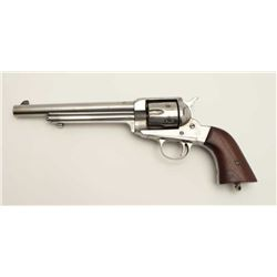 "Remington Model 1890 single action revolver,  .44-40 caliber, 7.5"" barrel, wood grips, S/N  276, ove"