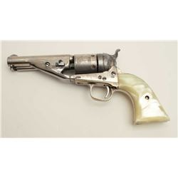 "Colt Richards Conversion single action  revolver, .38 caliber, barrel cut down to  4.5"", ejector rod"