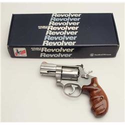 "Smith & Wesson Model 686-3 DA revolver, .357  Magnum caliber, 2.5"" barrel, stainless,  finger groove"