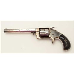 "Whitneyville .38RF caliber spur trigger  revolver, 5"" octagon barrel, nickel finish,  rosewood grips"