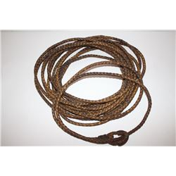 Forty-seven foot leather riata with 4 strands  in very good overall condition    Est.:   $300-$600.