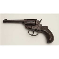 "Colt Model 1877 DA revolver, .41 caliber,  4.5"" barrel, missing ejector and ejector  housing, checke"