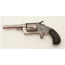 "Whitneyville .32RF caliber spur trigger  revolver, nickel, octagon barrel, rare ""W""  thermal plastic"