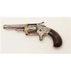 "Whitneyville .22 caliber spur trigger  revolver, 2.75"" octagon barrel, engraved,  nickel finish, ros"