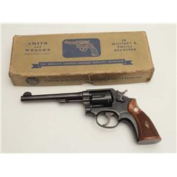 "Smith & Wesson Military and Police DA  revolver, .38 Special caliber, 5-screw frame,  6"" barrel, blu"