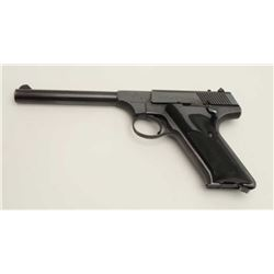 "Colt Huntsman Model semi-automatic pistol,  .22LR caliber, 6"" barrel, blued finish,  checkered black"