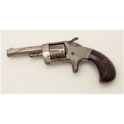 "Whitneyville, rare .30 caliber spur trigger  revolver, 2.5"" octagon barrel, nickel finish,  rosewood"
