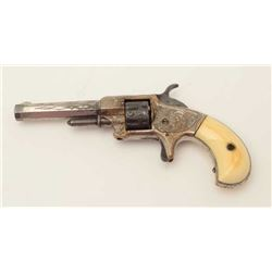 """Whitneyville .22 caliber spur trigger  revolver, engraved, 3.25"""" octagon barrel,  early production,"""