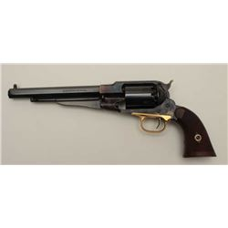 Pietta made reproduction of 1858 Remington  .44 caliber percussion revolver, blue and  case colored