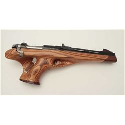 "Remington Model XP-100 bolt action pistol,  .221 REM Fireball caliber, 11"" ventilated rib  barrel, b"