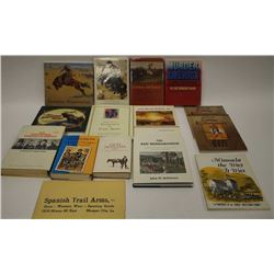 """Lot of approximately 14 reference books on  Western artists, Western history and Crime  including """"G"""