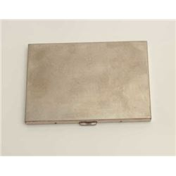 Volurte silver cigarette case, 140 grams  weight.     Est.:  $100-$200.