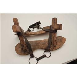 Fully rigged 19th Century pack saddle in fair  to good condition showing wear, use and  aging; great