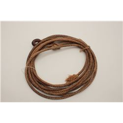 Old rope lariat, approximately 18' to 20' in  length.     Est.:  $75-$150.