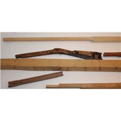 Bonanza lot for antique gunsmith or rifle  maker; original Kentucky ½ stock wood;  Northwest style c