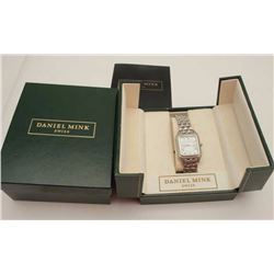 Daniel Mink (Swiss) tank watch in box with  instructions, excellent condition and running  at time o
