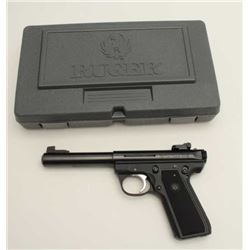 "Ruger Model 22/45 MK III semi-automatic  pistol, .22LR caliber, 5.5"" barrel, black  finish, checkere"