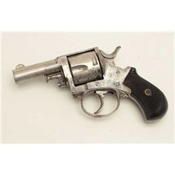 "Forehand & Wadsworth DA British Bulldog DA  revolver, .38 caliber, 2.5"" barrel, nickel  finish, chec"