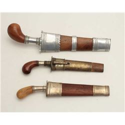 Southeast Asian to Philippine daggers (Punal  Style) with 2 similar style but of large  size. Est.: