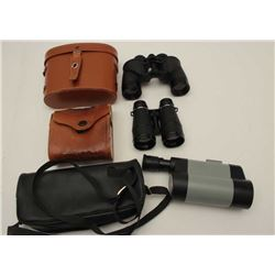 Lot of 2 binoculars and monocular as  described: 1 4x40 air guide, Chicago in very good plus  condit