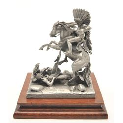 "Pewter sculpture by Donald Polland and issued  by Chilmark Collectors Society entitled  ""Counting Co"