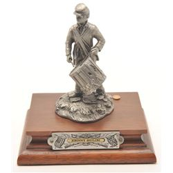 "Pewter sculpture by Fran Barnum and issued by  Chilmark Collectors Society entitled ""Johnny  Shiloh"""
