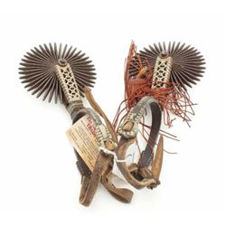 Ornate 19th century Argentine spurs.  The lot  includes a set of ornately decorated 19th  century sp