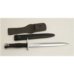 European bayonet S/N V262794 and KV144 on the  guard with bayonet. Excellent condition.  Est.: $50-$