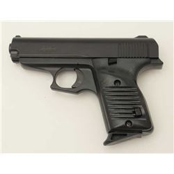 "Lorcin Model L380 semi-automatic pistol, .380  caliber, 3.5"" barrel, mat black finish,  polymer grip"