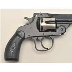 H & A top break revolver, .32 caliber, serial  #J43316.  The pistol is in fair overall  condition wi