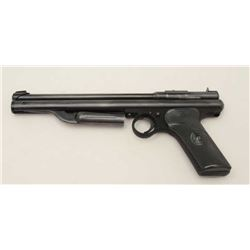 Crosman Model 130 pellet pistol, .22 caliber  black finish, checkered black plastic grips;  appears