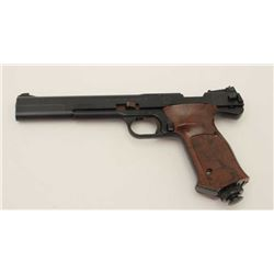 Smith & Wesson Model 79G pellet pistol, .177  caliber, black finish, brown checkered  plastic grips;