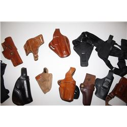 Approximately 12 misc. holsters by various  makers, mostly for semi-automatic pistols,  including mo