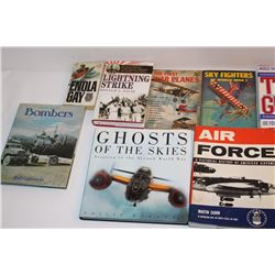 Bonanza lot of approximately 25 hardback and  softback primarily on aviation, including 13  volumes