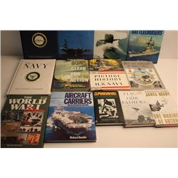 """Lot of approximately 13 books on the U.S.  Navy and Marine Corps. including """"Battleships  and Battle"""