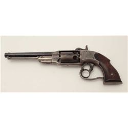 "Savage percussion Navy Model revolver, .36  caliber, 7"" octagon barrel, blued finish,  wood grips, n"
