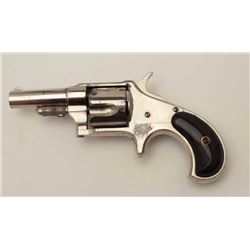 "Remington New Model No. 4 revolver, scarce in  .41 short caliber, 2.5"" round barrel, nickel  finish,"