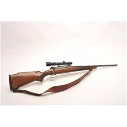 Winchester Pre-64 Model 70 bolt action rifle,  .338 Winchester Magnum caliber, serial  #393120.  The