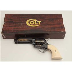 "Desirable John Wayne Commemorative SAA  revolver, .45 caliber, 4.75"" barrel, blued  with gold decora"
