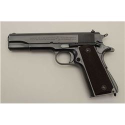 "Colt Model 1911A-1 U.S. property marked .45  auto, S/N 743749 with ""R.S."" inspection  shipped to U.S"
