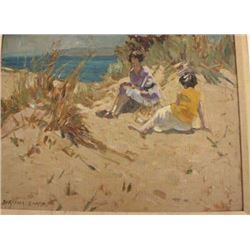 Oil painting on board signed by Dorthea Sharp  lower left noted British impressionist born  1874 and
